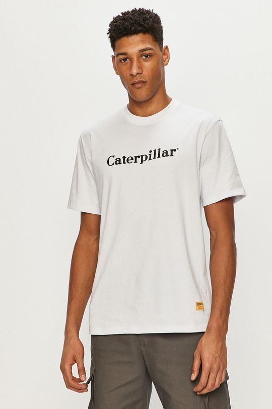 bílá Caterpillar - Tričko Pánský