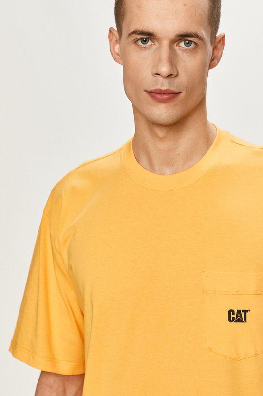 oranžová Caterpillar - Tričko