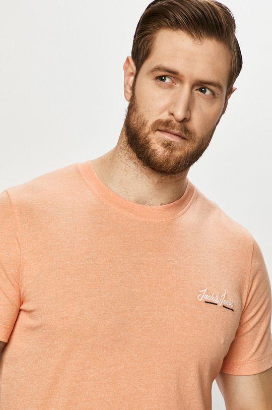 oranžová Jack & Jones - Tričko Pánský