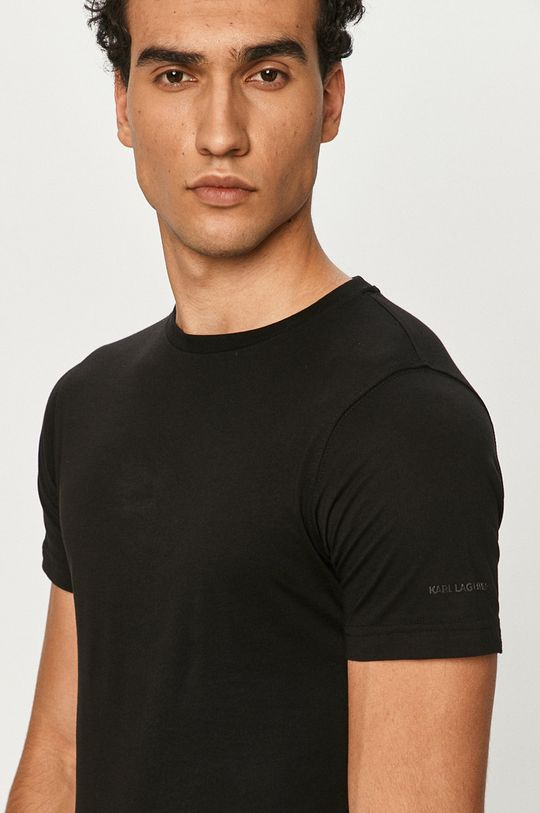 czarny Karl Lagerfeld - T-shirt (2-pack)