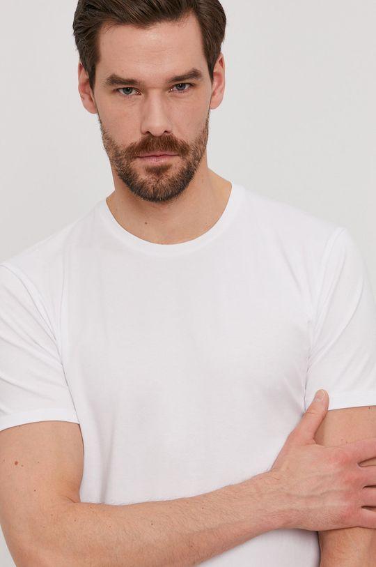 biela Selected - Tričko Pánsky