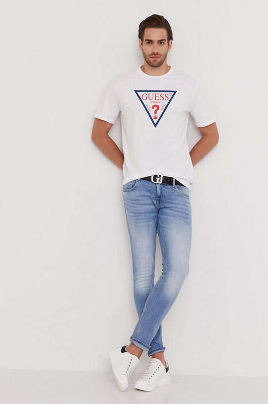 Guess - Tričko z narozeninové kolekce bílá