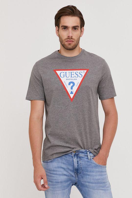 svetlosivá Guess - Tričko z narodeninovej kolekcie