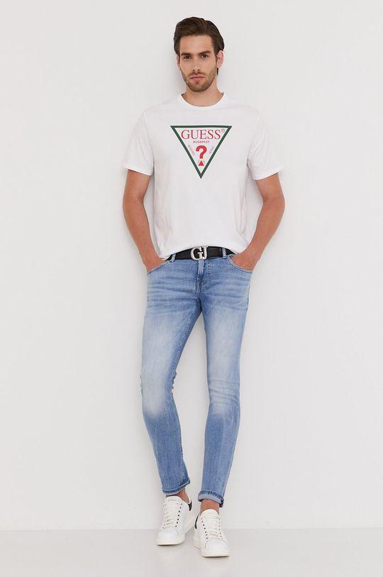 Guess - Tricou din colectia aniversara alb