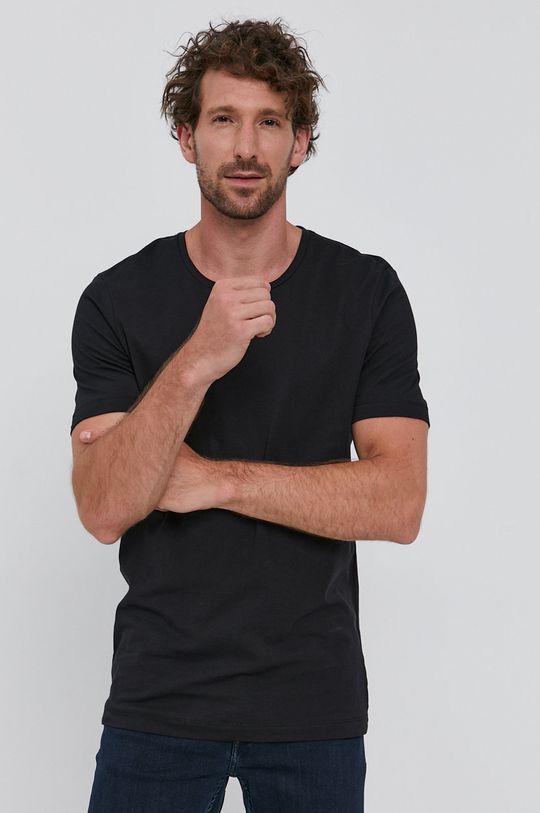 czarny Tiger Of Sweden - T-shirt Męski