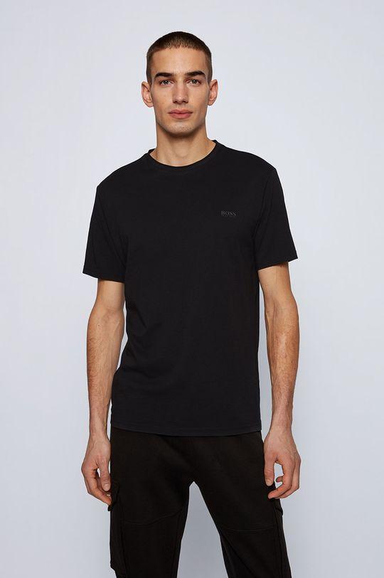 czarny Boss - T-shirt Boss Casual Męski