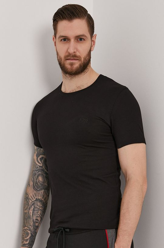 czarny Boss - T-shirt (3-pack) Męski