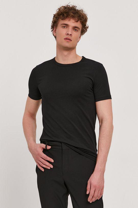 Boss - Tričko (2-pak) čierna