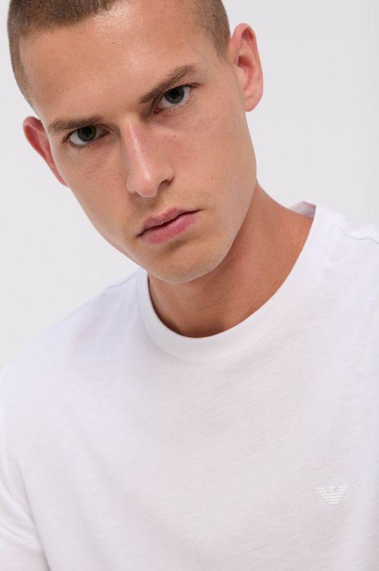 Emporio Armani - Bavlnené tričko (2-pak) biela