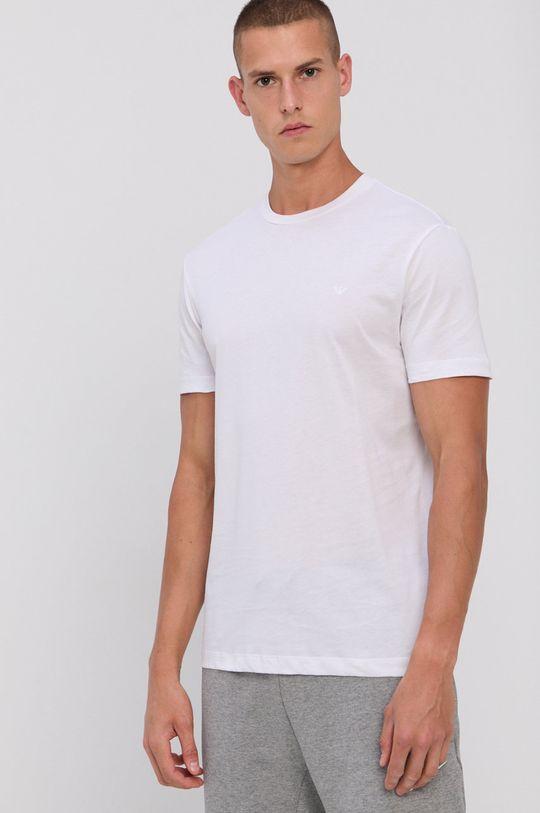 biela Emporio Armani - Bavlnené tričko (2-pak)