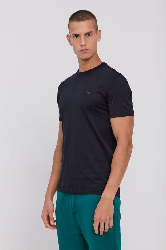 tmavomodrá Emporio Armani - Bavlnené tričko (2-pak) Pánsky