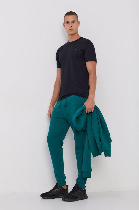 Emporio Armani - Bavlnené tričko (2-pak) tmavomodrá