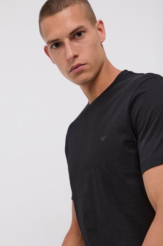 negru Emporio Armani - Tricou din bumbac (2-pack)