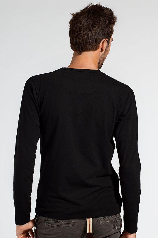Jack & Jones - Tričko s dlouhým rukávem černá