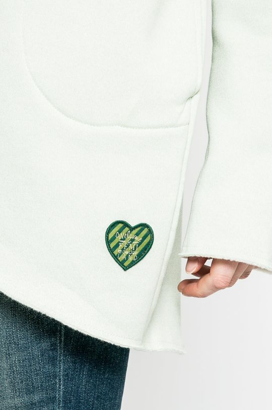 světle zelená Femi Pleasure - Mikina Oshi