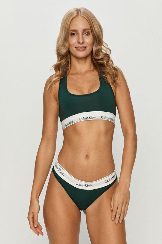 Calvin Klein Underwear - Podprsenka Bralette zelená