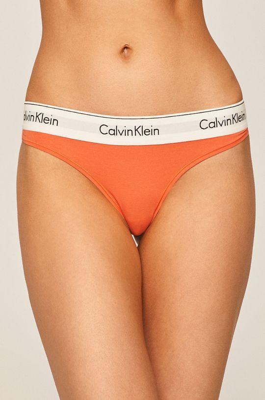 oranžová Calvin Klein Underwear - tanga Dámský