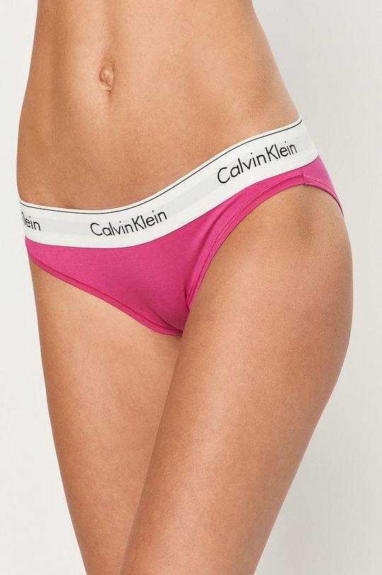 ostrá růžová Calvin Klein Underwear - Kalhotky Bikini Dámský