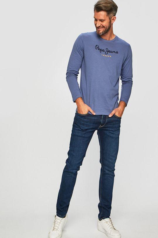 Pepe Jeans - Tričko s dlouhým rukávem ocelová modrá