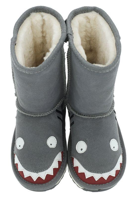 Emu Australia - Dětské nízké kozačky Shark Putt šedá
