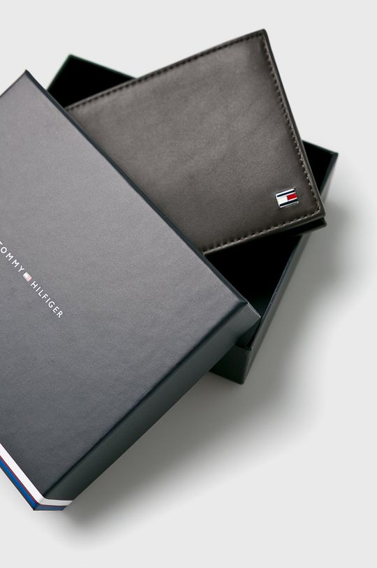 hnedá Tommy Hilfiger - Kožená peňaženka