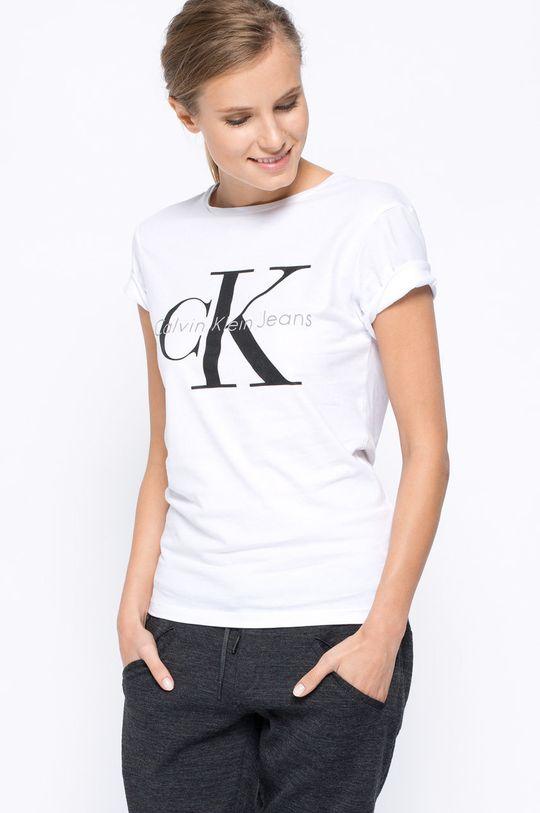 білий Calvin Klein Jeans - Футболка Жіночий