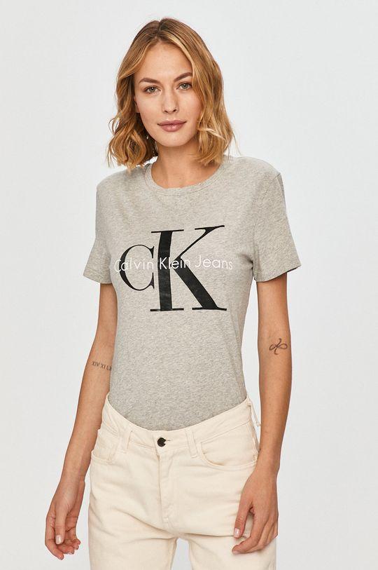 світло-сірий Calvin Klein Jeans - Футболка Жіночий