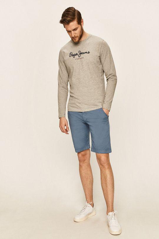 Pepe Jeans - Pánske tričko s dlhým rukávom sivá