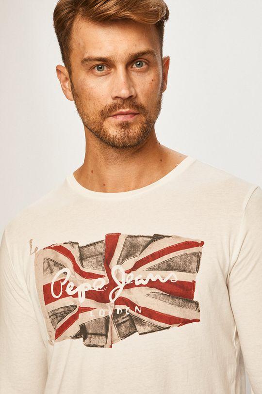 bílá Pepe Jeans - Tričko s dlouhým rukávem