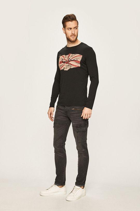 Pepe Jeans - Tričko s dlouhým rukávem černá