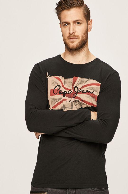 černá Pepe Jeans - Tričko s dlouhým rukávem