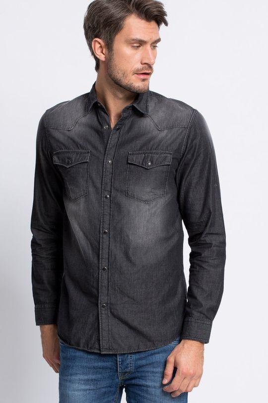 sivá Produkt by Jack & Jones - Košeľa Western Pánsky