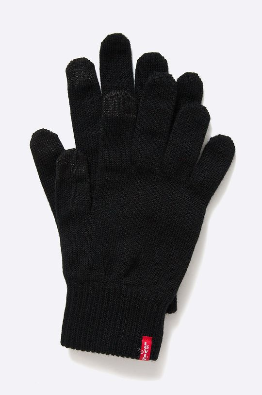 czarny Levi's - Rękawiczki Męski