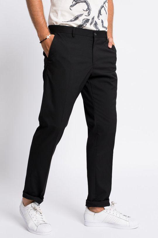 czarny Selected - Spodnie Męski