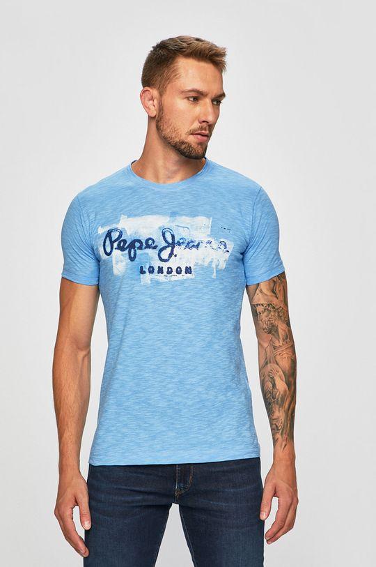 světle modrá Pepe Jeans - Tričko Golders Pánský