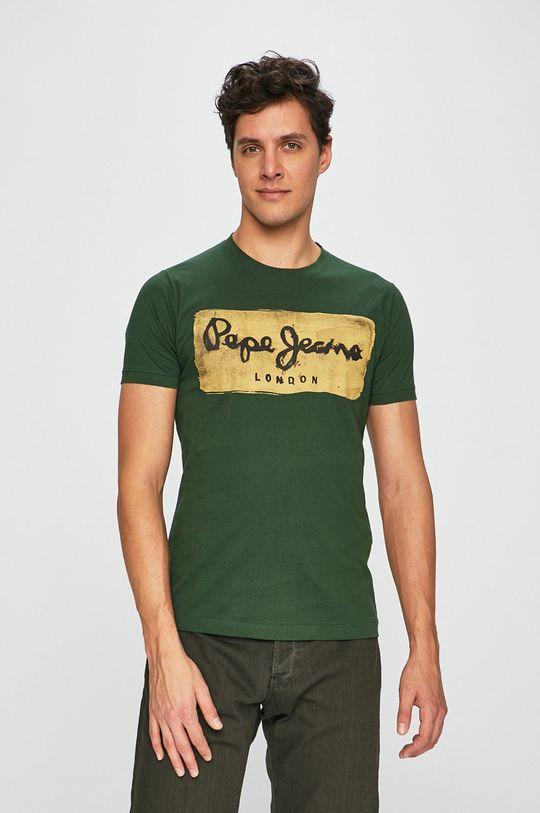 zelená Pepe Jeans - Pánske tričko Charing Pánsky
