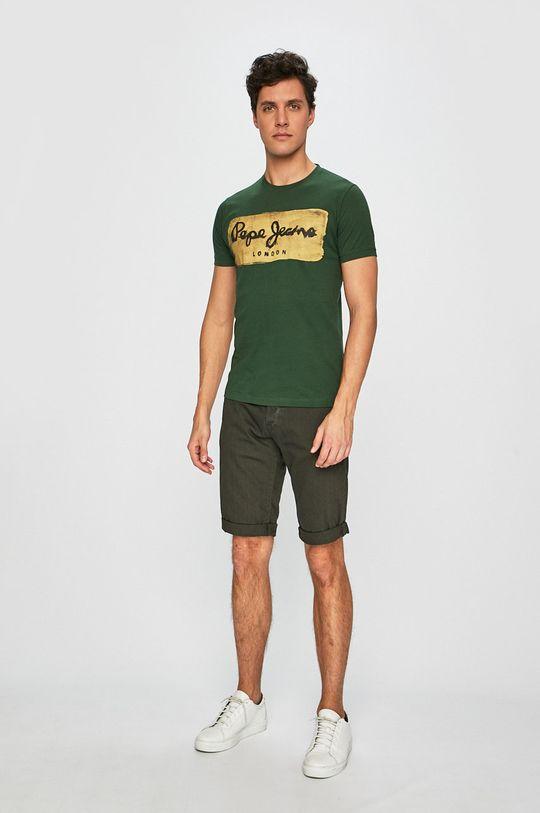 Pepe Jeans - Pánske tričko Charing zelená
