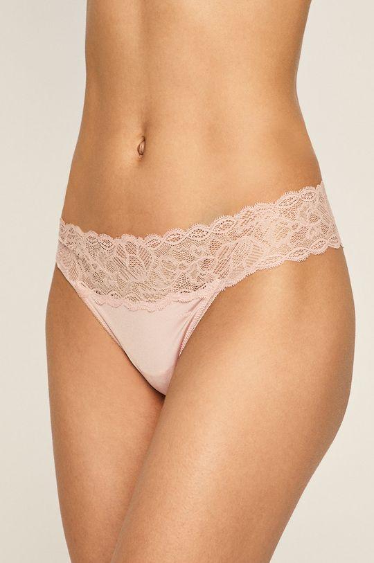 pastelově růžová Calvin Klein Underwear – Tanga Dámský