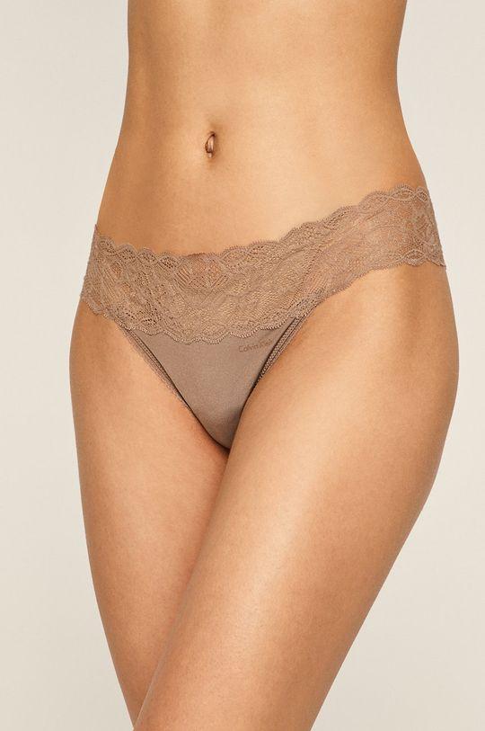 kávová Calvin Klein Underwear – Tanga Dámský