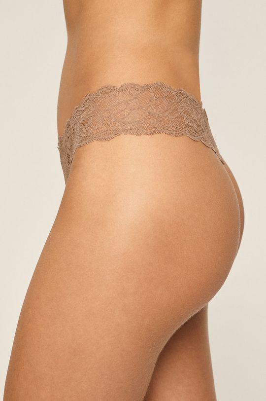Calvin Klein Underwear – Tanga kávová