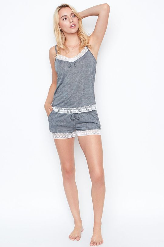 Etam - Pyžamový top Warm Day sivá