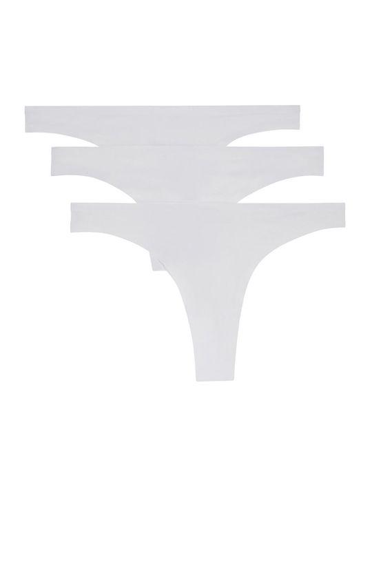 Undiz - tanga Micro String Lotx3 bílá