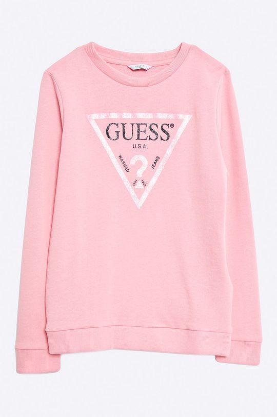 růžová Guess Jeans - Dětská mikina 118-175 cm Dívčí
