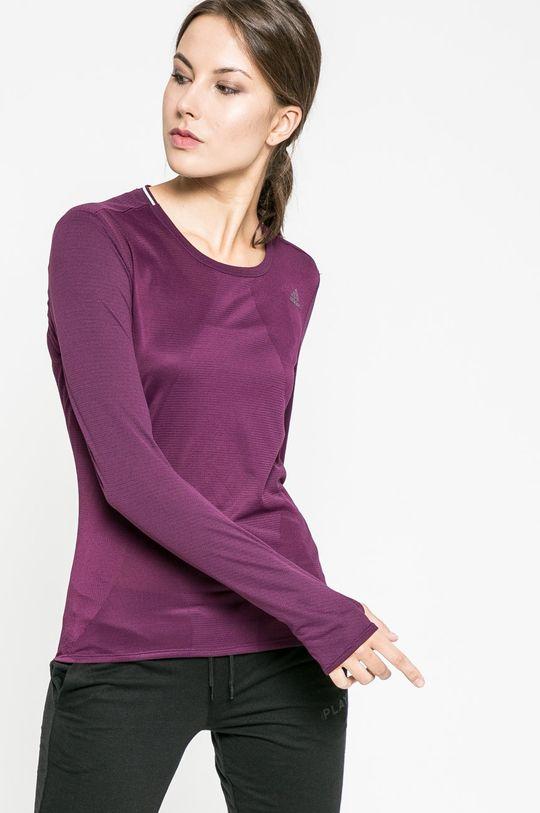 тъмновиолетов adidas Performance - Блуза Жіночий