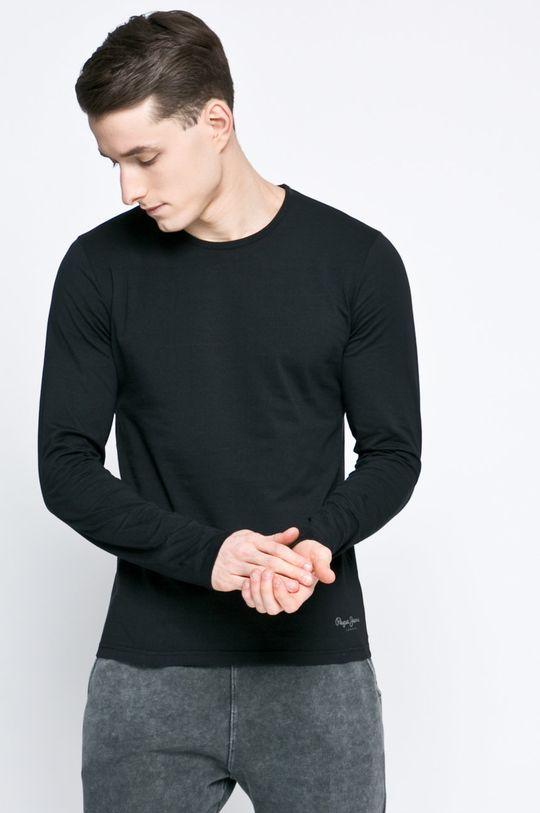 černá Pepe Jeans - Tričko s dlouhým rukávem Pánský
