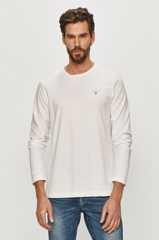 biały Gant - Longsleeve Męski