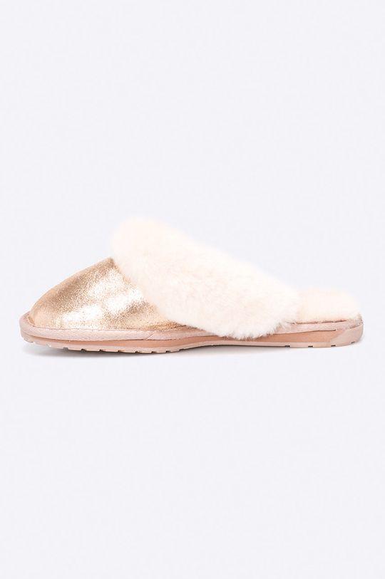 Emu Australia - Pantofle Jollie Metallic  Svršek: Přírodní kůže Vnitřek: Merino vlna Podrážka: Umělá hmota