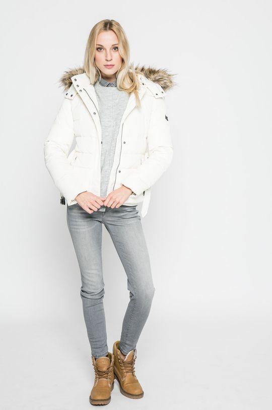 Pepe Jeans - Пухено яке бял