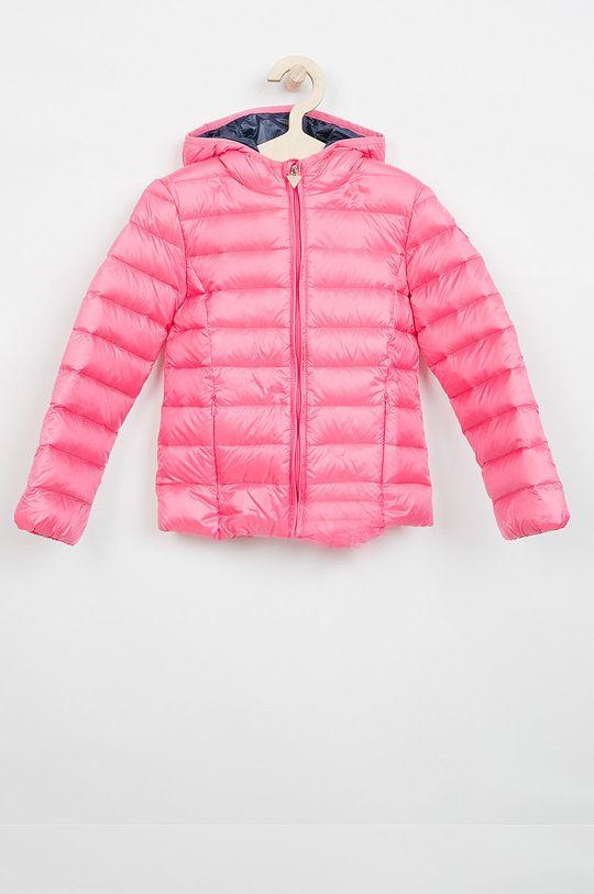 růžová Guess Jeans - Dětská péřová bunda 118-166 cm. Dívčí