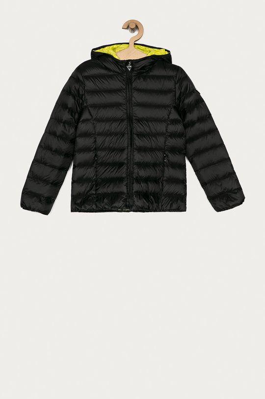 černá Guess Jeans - Dětská péřová bunda 118-166 cm. Dívčí
